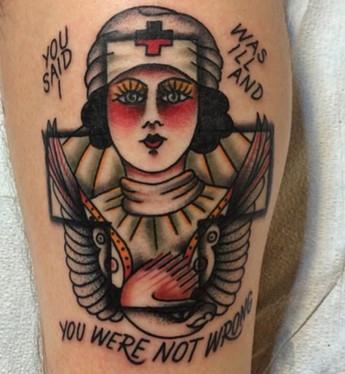 Traditional Nurse Tattoo Brooklyn New Yo