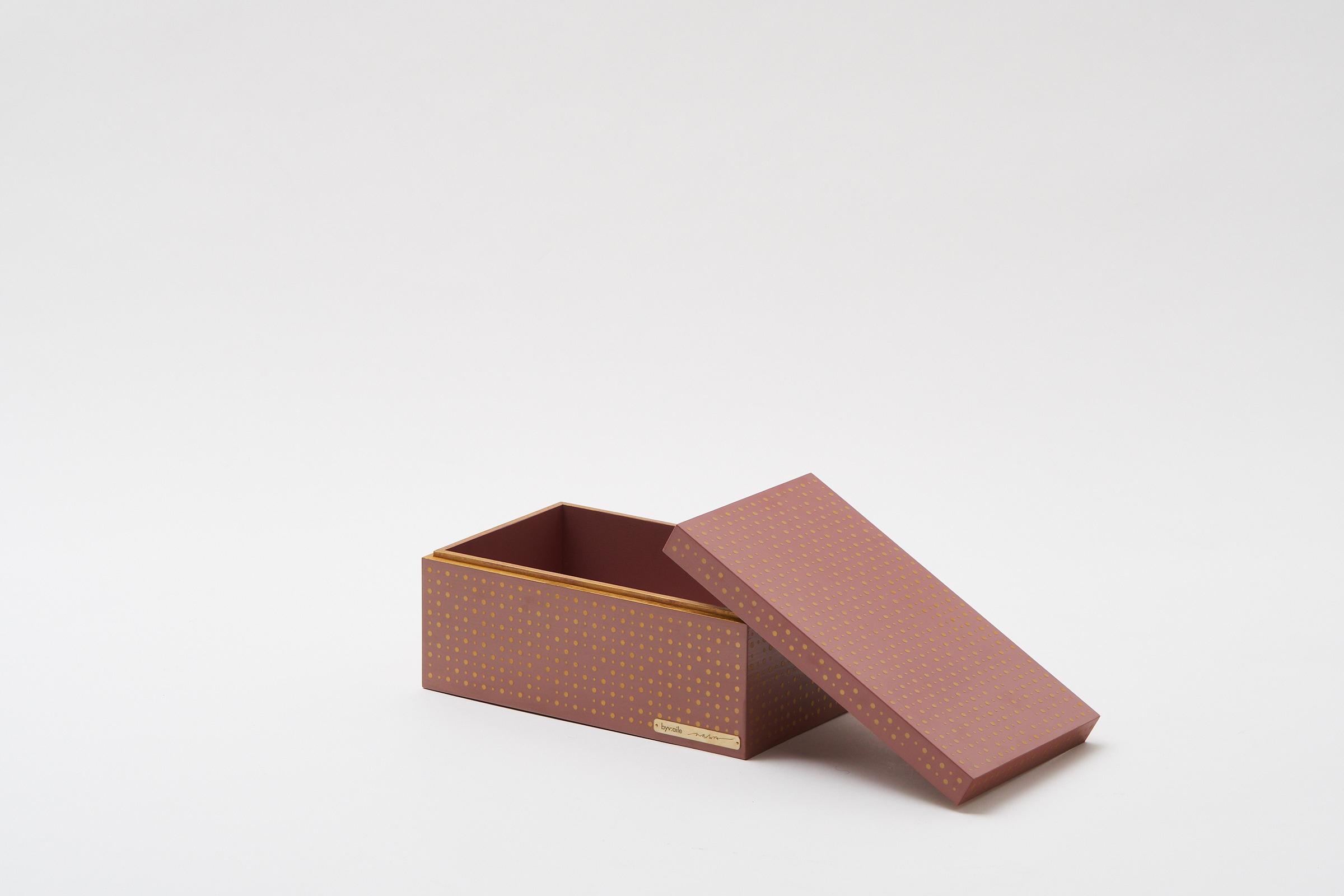 gold dot's pattern box(pink)