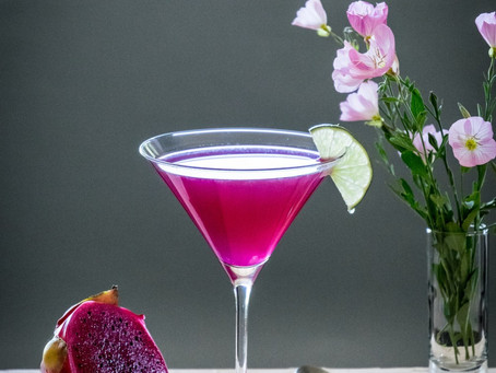 Sparkling Dragon Fruit Margarita