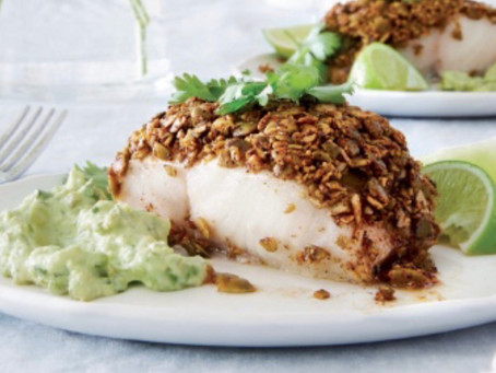 ChiliCrusted Fish Fillets with Avocado Tartar Sauce