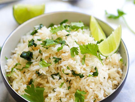 Lime Cilantro Rice with jalapeños