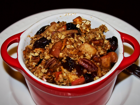 Cherry Pecan Apple Crisp