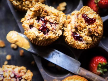 PB & J Oatmeal Muffins