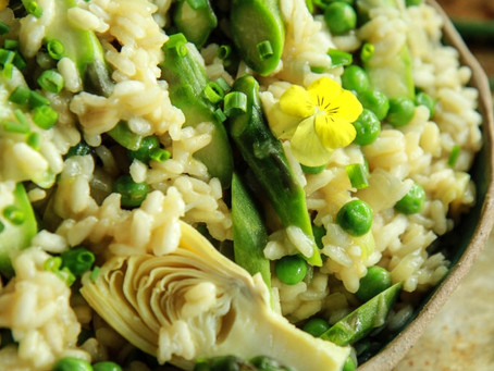 Instant Pot Risotto with Peas and Artichokes