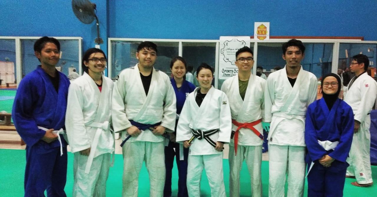 UBD Judo members trained with Kishimoto
