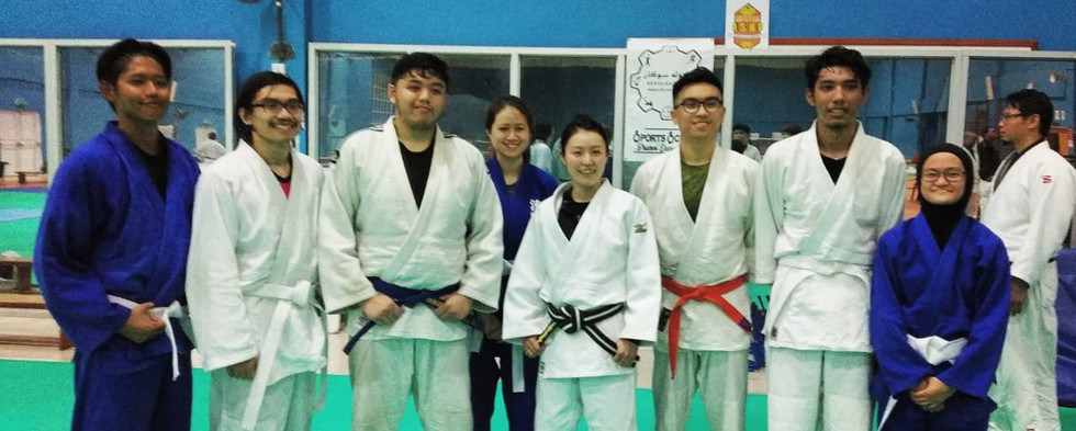 UBD Judo members trained with Kishimoto