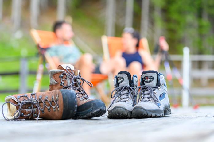 Entspannen nach einer Bergtour