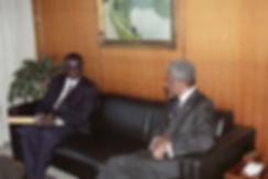 Amb Kebe presents credentials to Kofi An