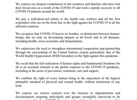 STATEMENT BY THE AFRICAN GROUP ON COVID-19