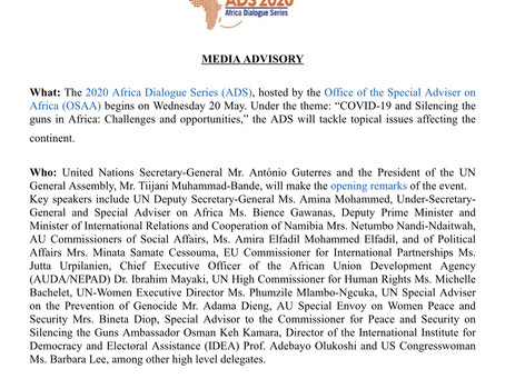 AFRICA DIALOGUE SERIES 2020