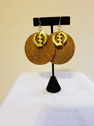 Round Gye Nyame Earrings
