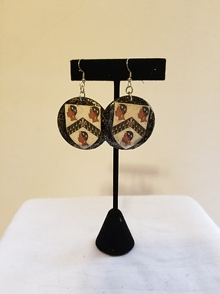 Black British Banner Earrings