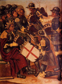 Black britian 7Creu Alcoraz 1524 Jeronimo Martinez Retablo San Jorge Salvador Merce Teruel