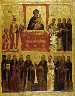 Empress Theodora in 843 Triumph orthodoxy