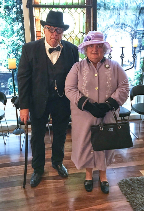 Brian and Debbie as Churchill and Liz II.jpg