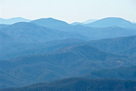 Creston as seen from the summit of Mount Mitchell