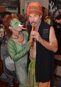 Pam and Bobby as Snake Chamer and Copperhead.jpg