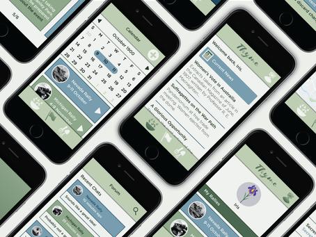 Thyme Mobile App Design