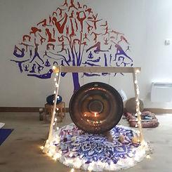 Gong bath at yes yoga studio last Thursd