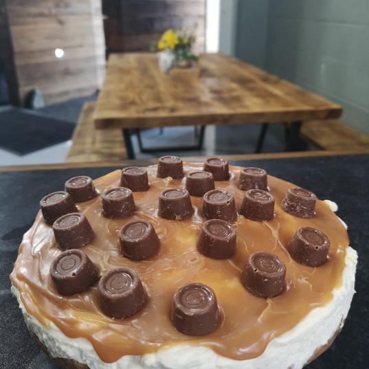 Cacen Caws Rolo a Caramel/Rolo and caramel Cheesecake