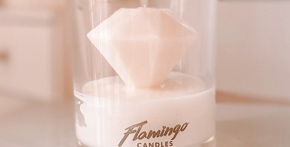 Diamond Candle - Strawberries and Champagne Scent