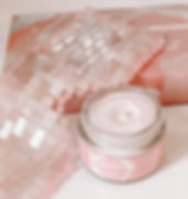 Rose Quartz Eye Mask Pink Clay Mask Skin