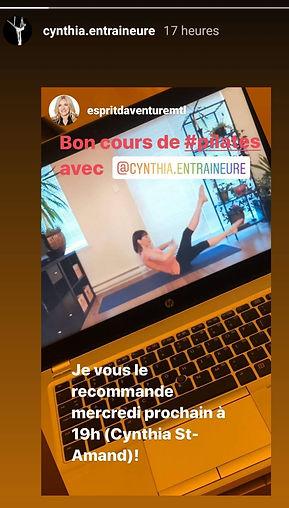 Cynthia St-Amand. Cours de pilates en ligne. Cours essentrics en ligne. Pilates à la maison. Exercice pour les abdominaux. Entraîneur de pilates.