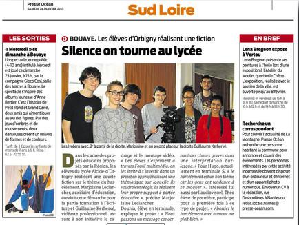 Animation d'un atelier audiovisuel au lycée de Bouaye.