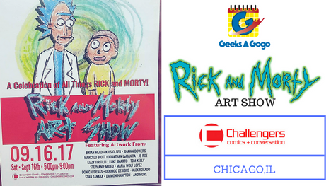 Rick and Morty Art Show at Challengers Comics