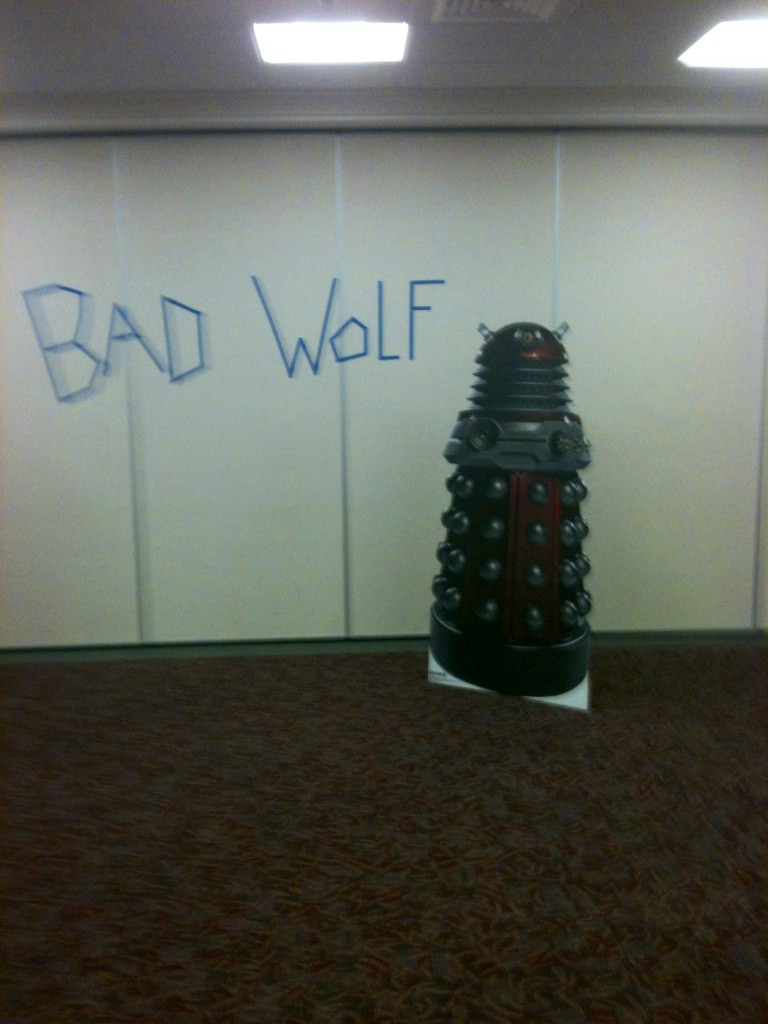 A Dalek prop designed by a fan at the Bristol Public Library in Bristol, Connecticut.