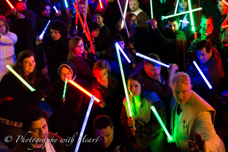 May the 4th Be With You - Lightsaber Freeze Mob in Chicago