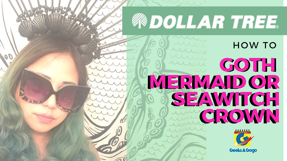 goth mermaid crown diy