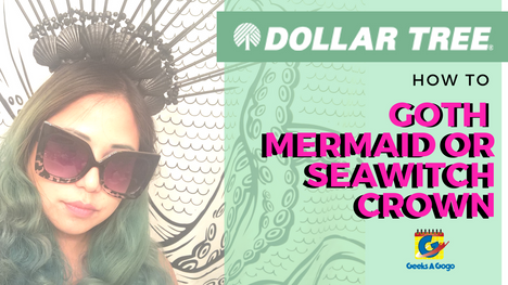 DOLLAR STORE CHALLENGE: DIY Goth Mermaid/ Sea Witch Hairpiece