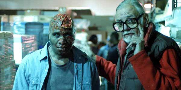 Dawn of the Dead director, George Romero (left)