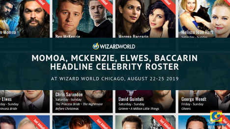 Momoa, McKenzie, Elwes, Baccarin Headline Celebrity Roster At Wizard World Chicago, August 22-25