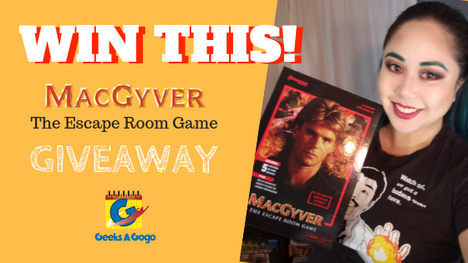 GIVEAWAY: MACGYVER™ The Escape Room Game in a Box