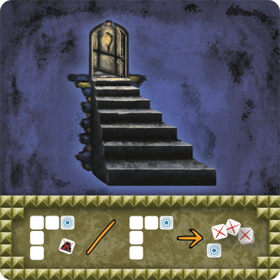 The Abandons Stairs Card