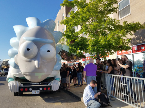 Adult Swim Brings the Rick Mobile to Challengers Comics in Chicago, IL