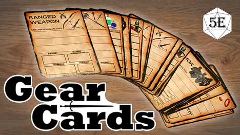 GET YOUR LOOT ORGANIZED! Writable, Reusable Item Cards for D&D DM's and Players