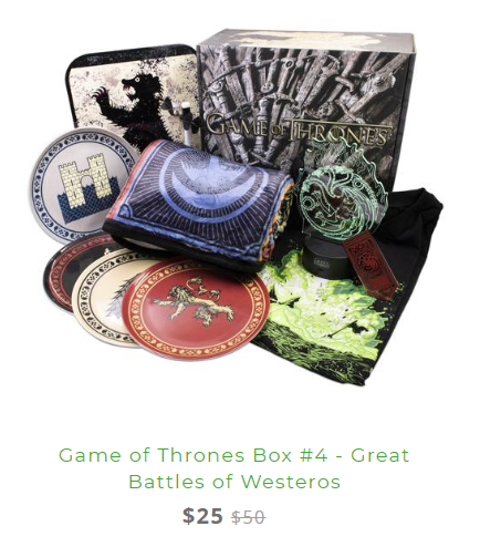 Game of Thrones Box 4 Sale 2019