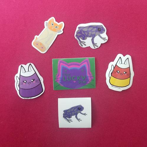6 Lucky Pin Sticker Pack