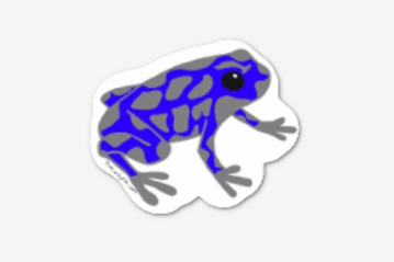 6 Dart Frog Stickers! This is a sticker version of our Dart Frog Pin!