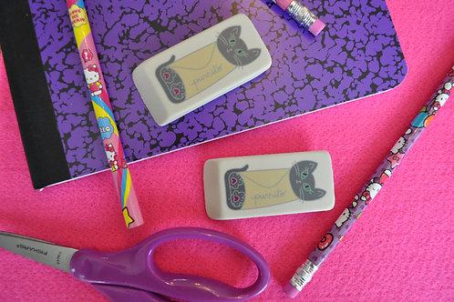 Purrito Cat Eraser