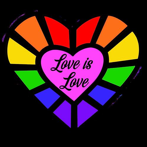 Pride Heart Gem Sticker's