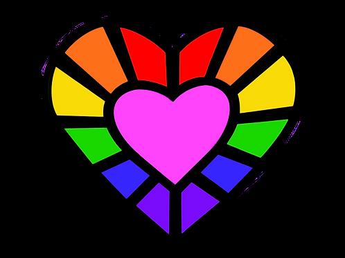 Rainbow Heart Gem Sticker's