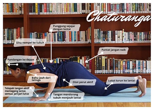 Bengkel Yoga Asana - Chaturanga Lutut Tu