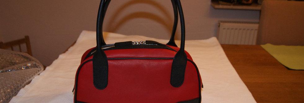 Damenhandtasche rot-schwarz