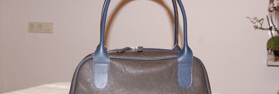Damenhandtasche grau-blau