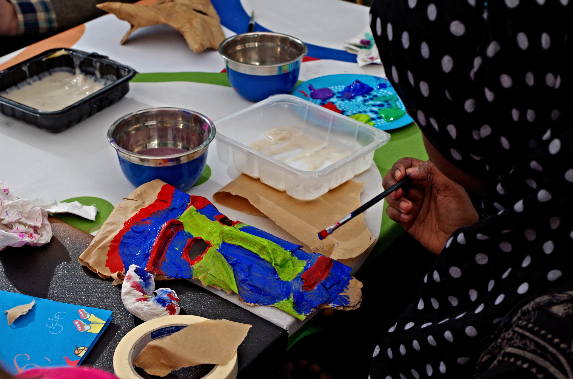 Guerrero's mask workshop