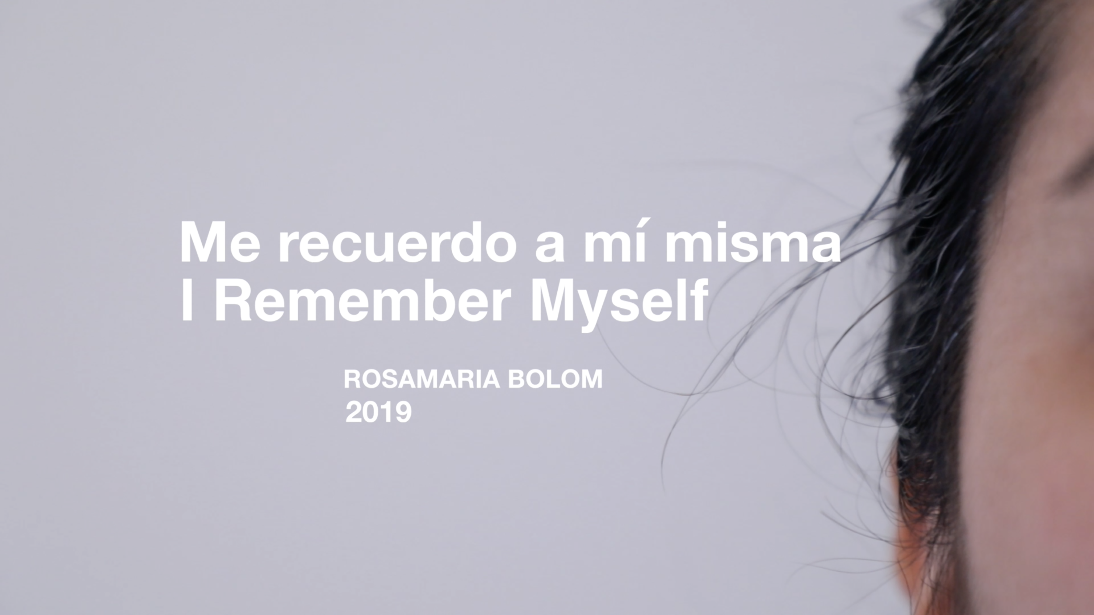 I remember Myself_video-performance